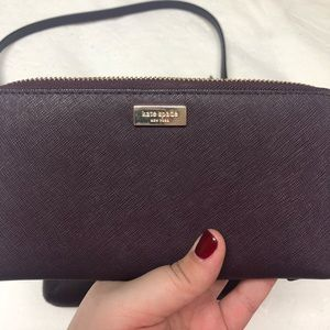 Kate Spade burgundy wallet. GREAT condition!